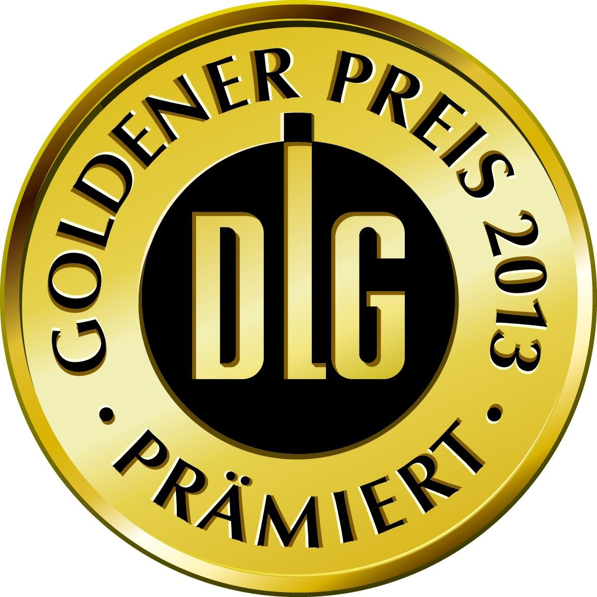 DLG-Siegel auf goldener Plakette
