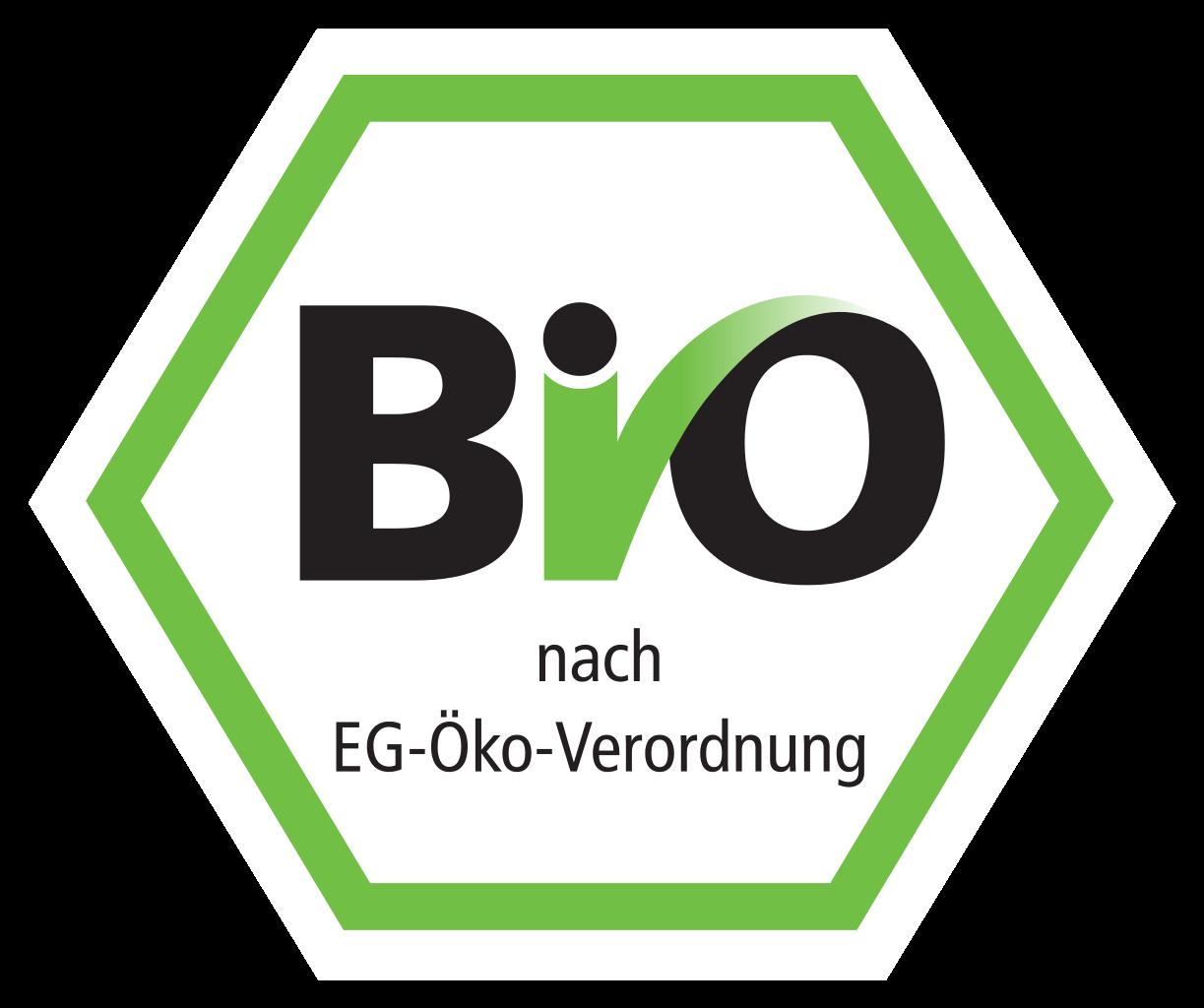 Deutsches Bio-Siegel in grüner Wabe