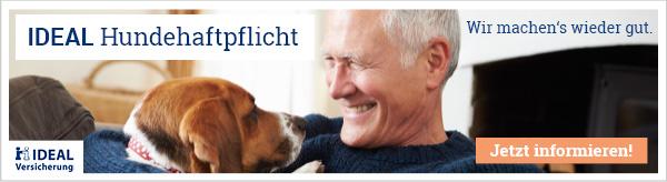 IDEAL Hundehaftpflichtversicherung - jetzt als Hundehalter absichern und das Risiko vermeiden.