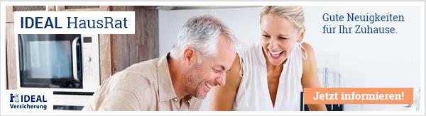 Die IDEAL HausRat ist als Versicherungsschutz für Sie und Ihr Zuhause an Ihrer Seite!
