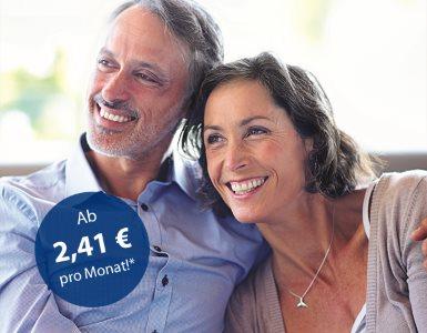 IDEAL Haftpflichtversicherung: Frau und Mann lächeln