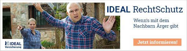 IDEAL RechtSchutz - umfassender Schutz in jeder Lebenslage mit unbegrenzter Versicherungssumme.