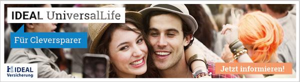 Mit der IDEAL UniversalLife  sicher & flexibel für's Alter vorsorgen!