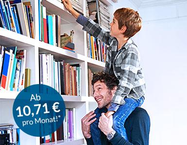 IDEAL Rentenversicherung: Mann mit kleinem Jungen auf den Schultern
