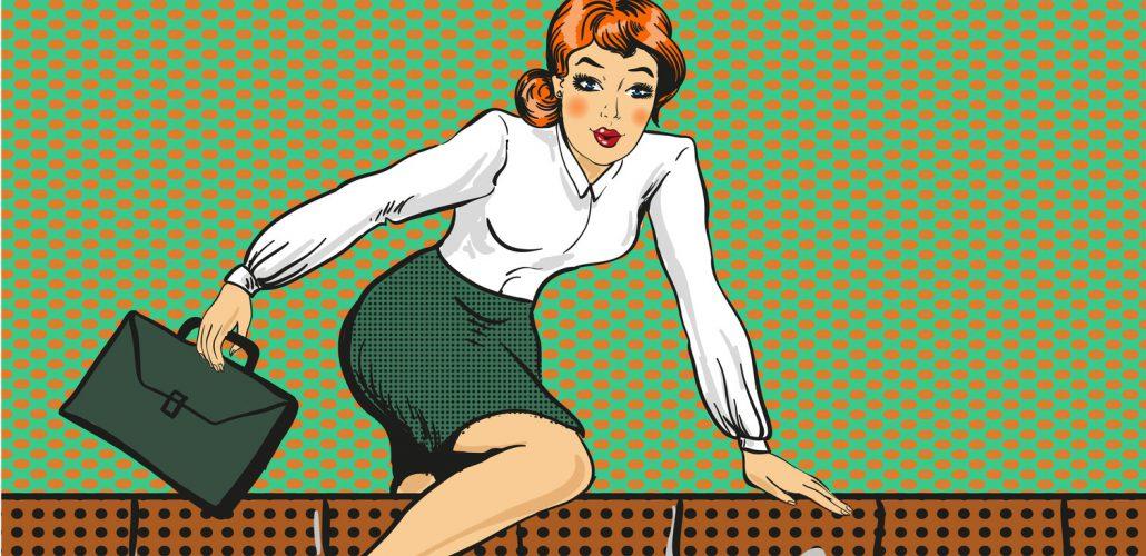 Vorsorge - Karrierefrau in Eile
