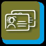 Grafisches Symbol für Aktien mit dunkelgrünem Hintergrund