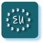 Grafisches Symbol für Bundesanleihen mit glaugrauem Hintergrund