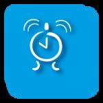 Grafisches Symbol für Festgeld mit blauem Hintergrund
