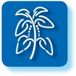 Grafisches Symbol für Rohstoffe mit blauem Hintergrund