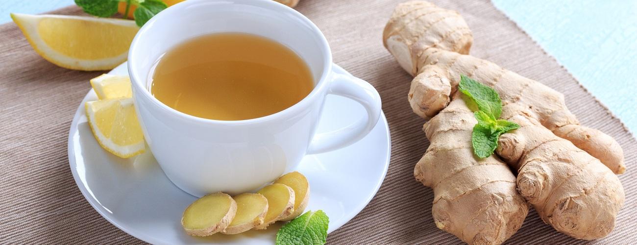 Ingwer Tee und Knolle