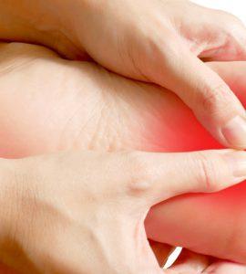 Bild eines schmerzenden Fußes