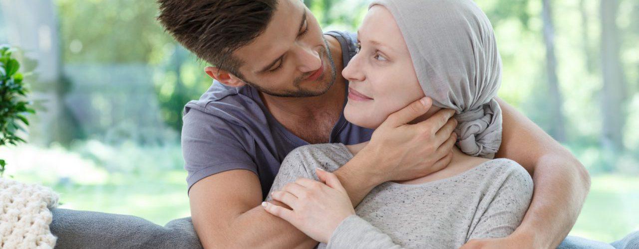 Liebespaar mit Krebspatientin