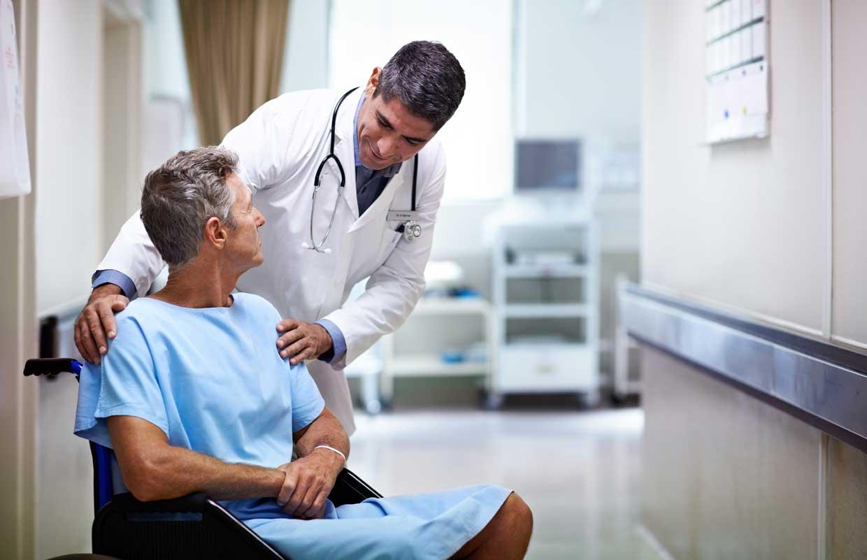 Patientenbetreuung im Krankenhaus