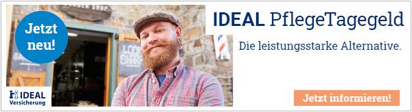 IDEAL PflegeTagegeld - Die leistungsstarke Alternative.